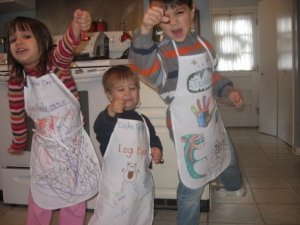 The kids in January of 2009